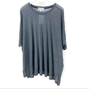 Wildfox Grey Oversized T-Shirt S Loose Top Tee